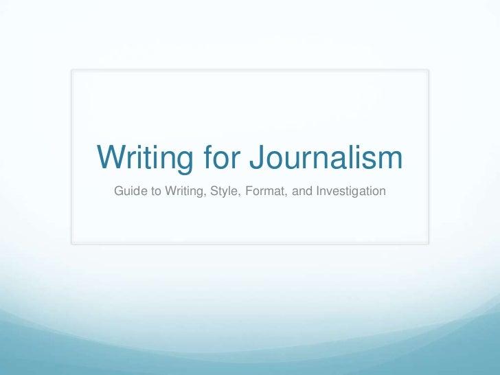 Journalism Presentation