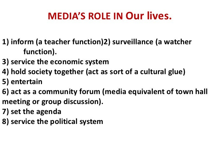 Role of media essay in english