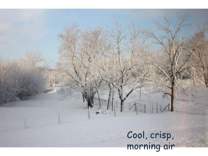 Cool, crisp,morning air