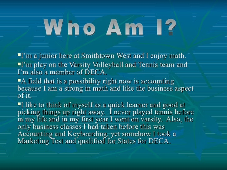 I'm a junior here at Smithtown West and I enjoy math.I'm play on the Varsity Volleyball and Tennis team andI'm also a me...