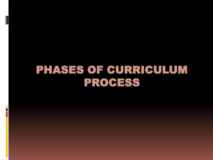 PHASES OF CURRICULUM      PROCESS