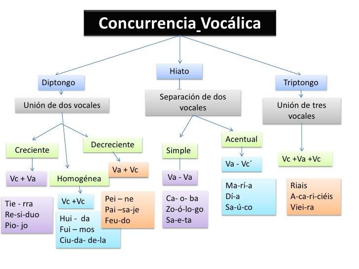 Concurrencia Vocálica                                            Hiato            Diptongo                                ...