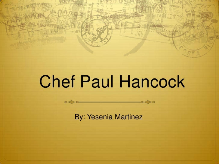 Presentation1 Chef Paul Hancock