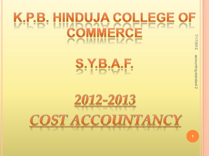 7/17/2012   accounting standard 2                                    1