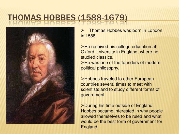 political philosophy and thomas hobbes essay