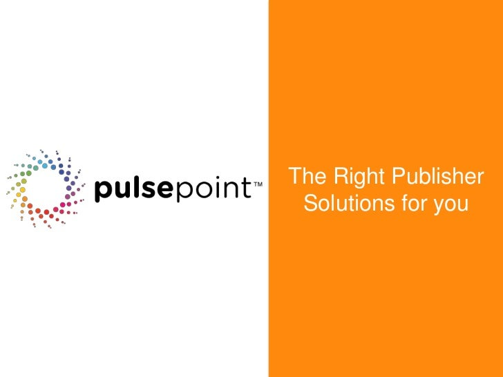 The Right Publisher Solutions for you