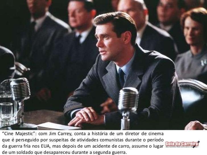 """""""Cine Majestic"""": com Jim Carrey, conta a história de um diretor de cinemaque é perseguido por suspeitas de atividades comu..."""