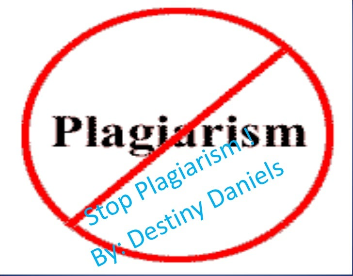 • Plagiarism is basically using somebody else's  work or pictures , and calling it your own or  not giving them the credit...