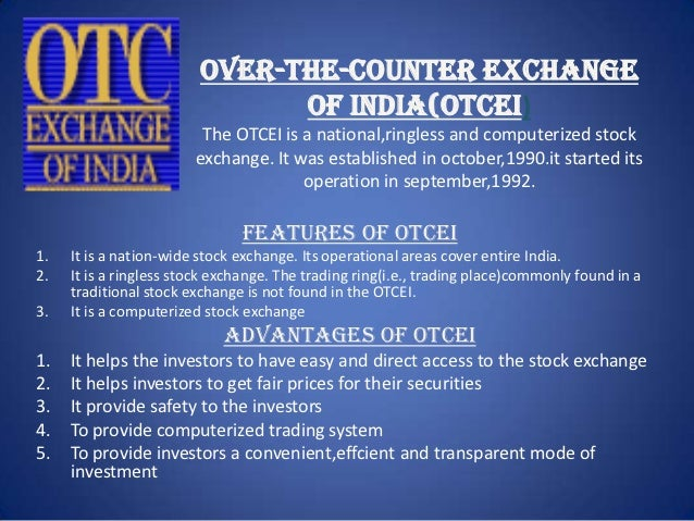 Trading system in stock exchanges in india-ppt