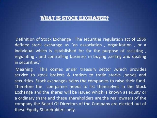 Stock options definition francais