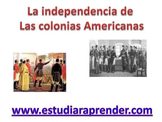 1809     Primeros movimientos de los criollos   1820 Bajo la dirección de José Joaquín de Olmedocontra el gobierno español...