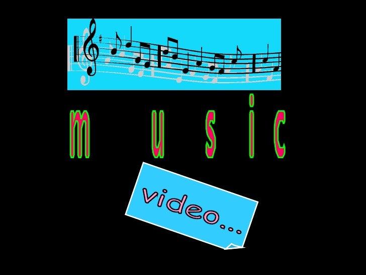 music video...