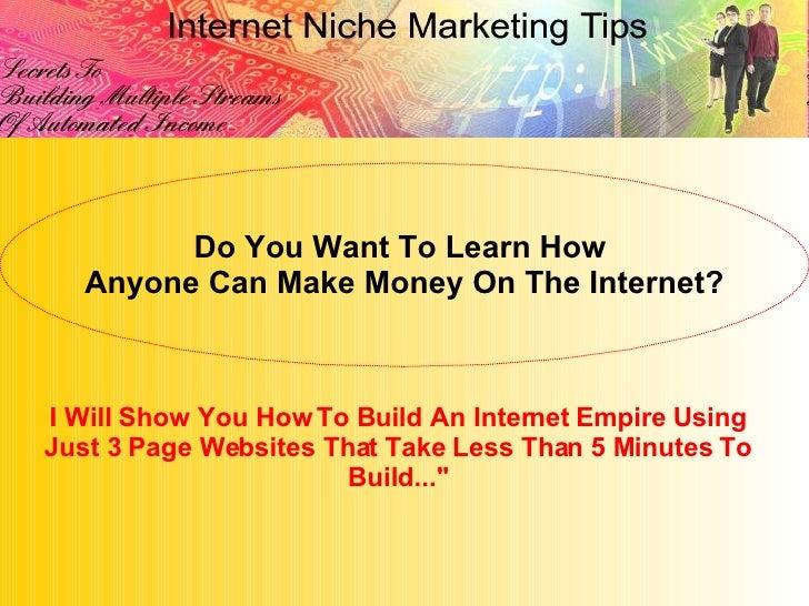 Niche Marketing Tips