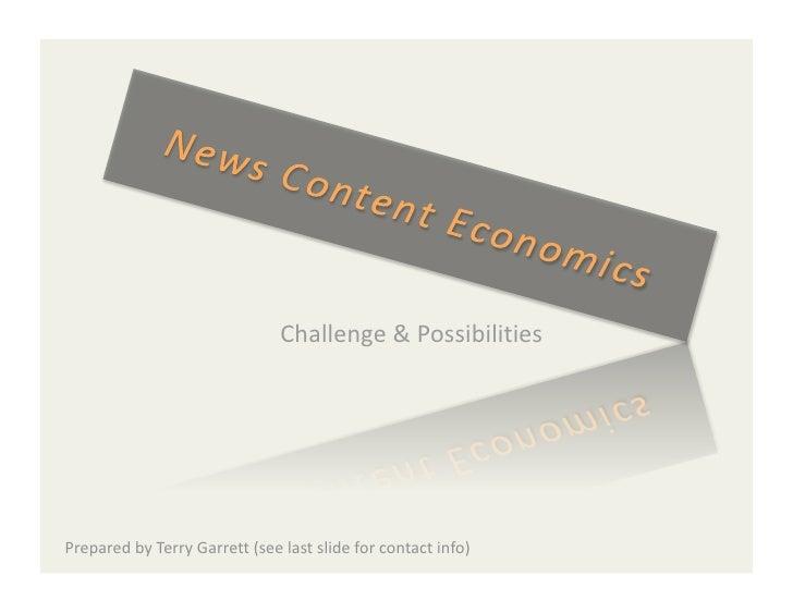 News Content Economics