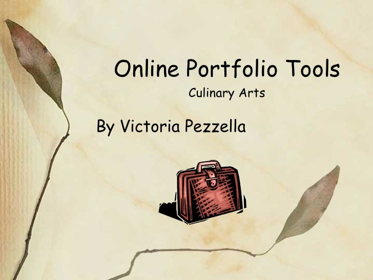 Online Portfolio Tools Culinary Arts By Victoria Pezzella