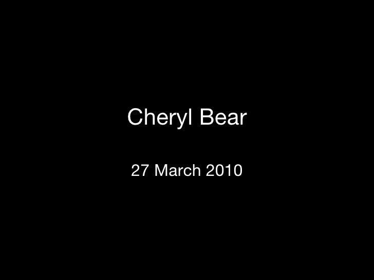 Cheryl Bear\'s Portfoilio
