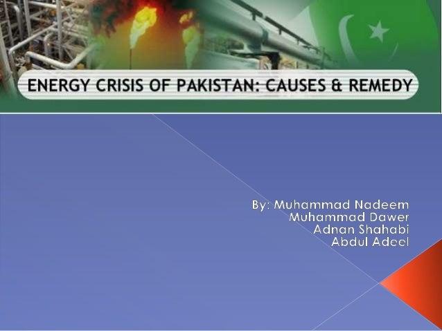 Energy Crisis Of Pakistan (by Muhammad Nadeem Zulfqar)