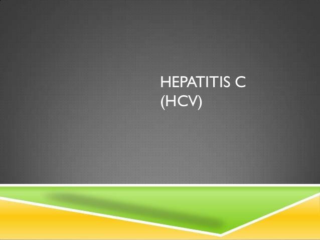 HEPATITIS C(HCV)