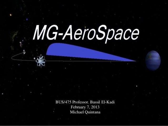 MG-AeroSpace Presentation (Multiple Government AeroSpace)