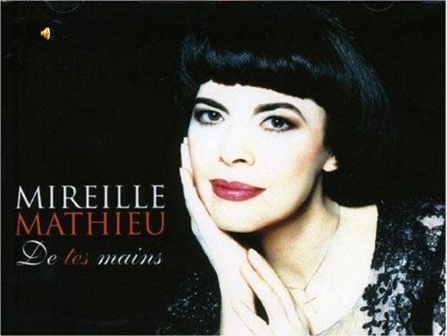 Mireille Mathieu est née le 22 juillet1946 à Avignon. Chanteuseinternationale, elle a un répertoirede 1200 chansons quelle...