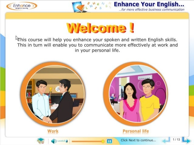 Demo of a customizable readymade elearning course for more effective business communication.
