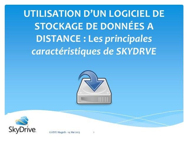 UTILISATION D'UN LOGICIEL DESTOCKAGE DE DONNÉES ADISTANCE : Les principalescaractéristiques de SKYDRVEGUEYE Magath - 14 Ma...