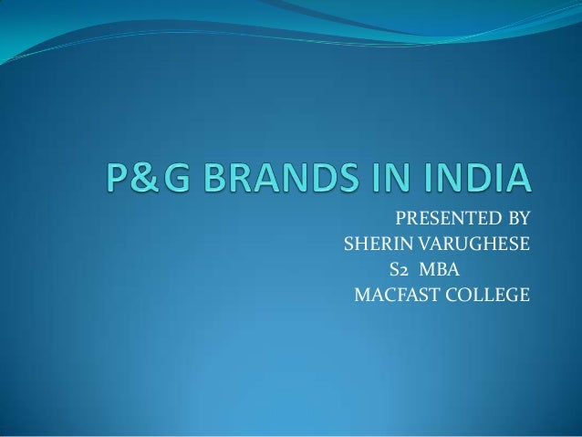 p&g brands in india