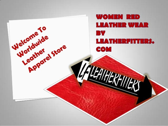 Red leather outfits by Leatherfitters.com