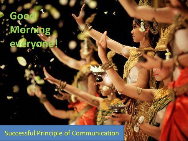 SUCCESSFUL PRINCIPLE OF COMMUNICATION