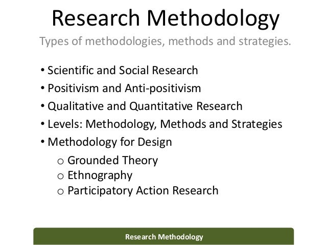 types of quantitative research methods
