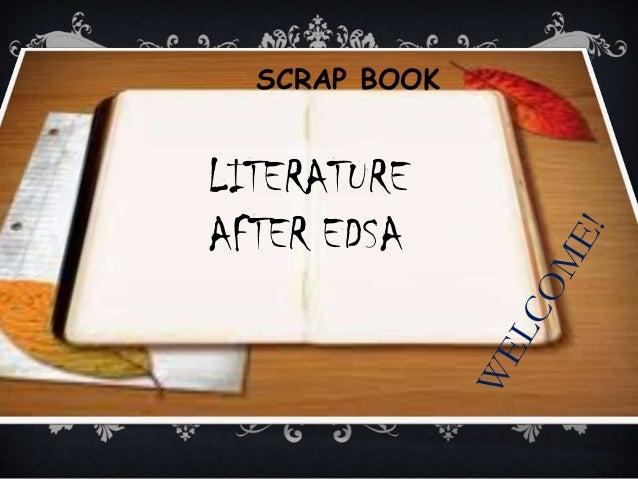 SCRAP BOOK LITERATURE AFTER EDSA