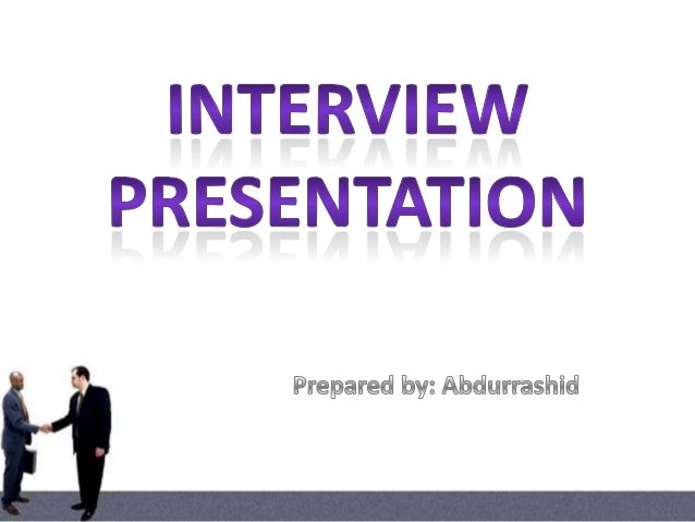 how to prepare a powerpoint presentation for a job interview