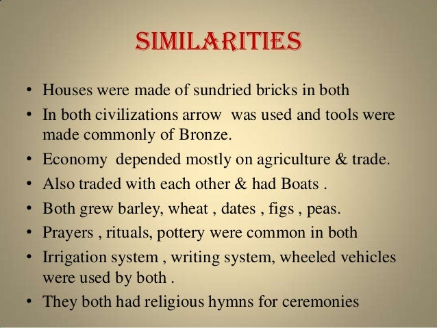 a comparison and contrast of emerging agricultural civilizations How civilizations emerged in the middle east and then africa requires a reminder  of the  in middle-eastern agricultural civilization (all civilizations were.