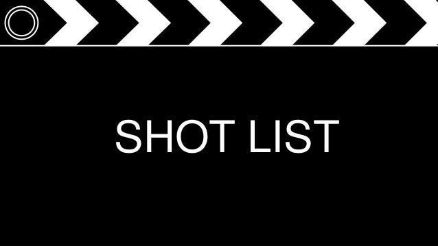 Revised Shot List for Thriller