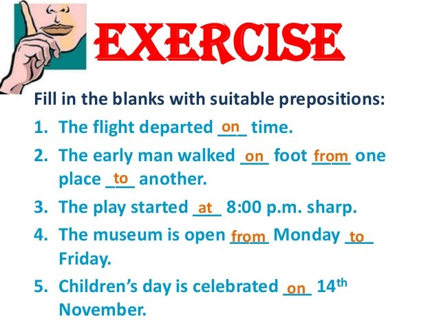 prepositions of place in on at exercises pdf with answers
