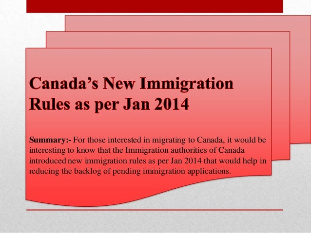 Summary:- For those interested in migrating to Canada, it would be interesting to know that the Immigration authorities of...