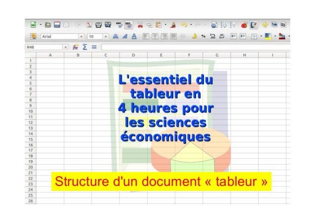 Structure d'un document « tableur »