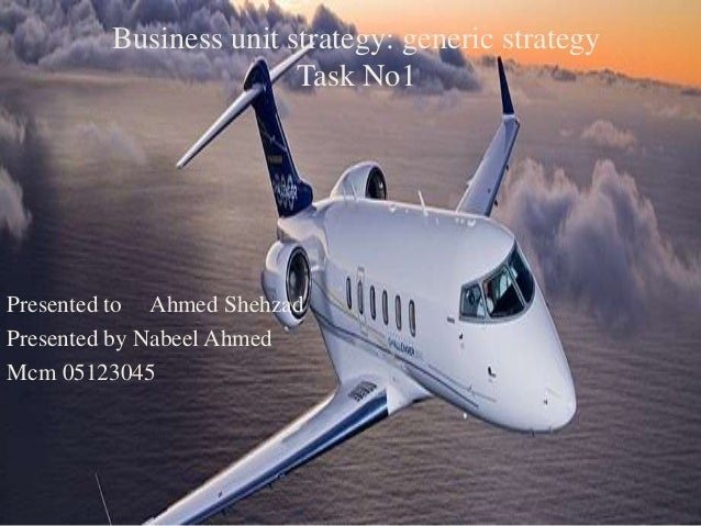 Business unit strategy: generic strategy Task No1 Presented to Ahmed Shehzad Presented by Nabeel Ahmed Mcm 05123045