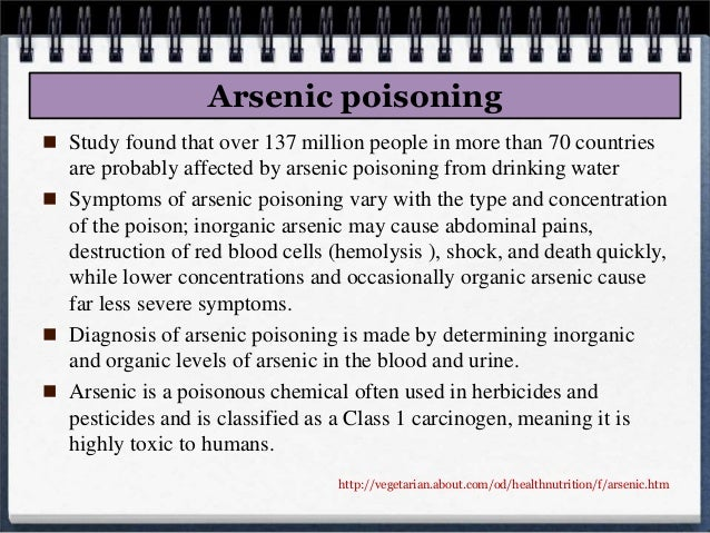 Arsenic Poisoning | Arsenicosis - Symptoms - Signs ...