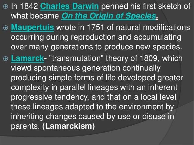 darwin essay 1842