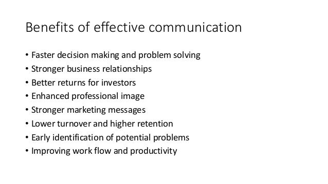Standards of Effective Communication