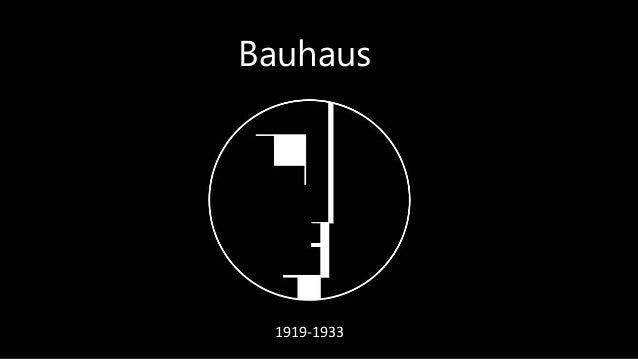 1919-1933 Bauhaus