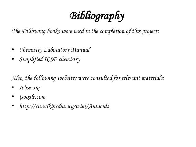 bibliography sample for research paper