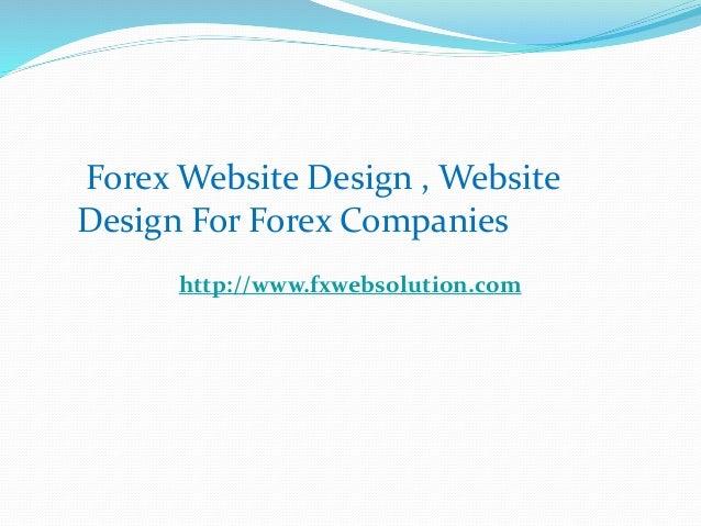 Forex broker website design