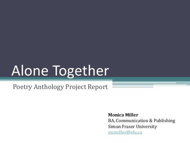 Poetry Anthology Project Poetry Anthology Project