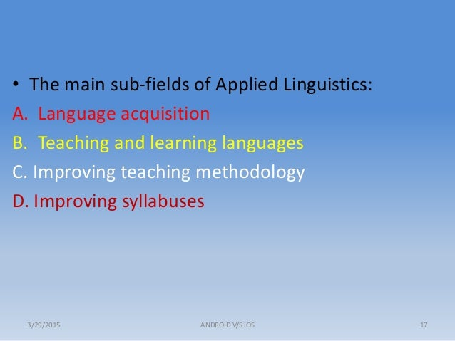 applied cultural linguistics Applied linguistics has many of the cultural heritage and as falling under the umbrella discipline of applied linguistics after all, applied.