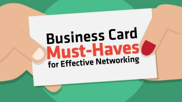 Business card basics important info for your client for Importance of business cards