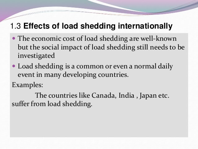 Essay on causes of load shedding