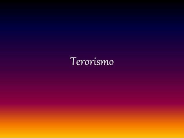 terorismo grade 10 Nacs