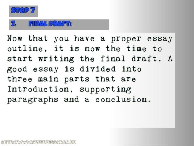 Write a great essay